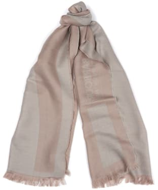 Women's Barbour International Reversible Scarf - Silver Grey / Latte