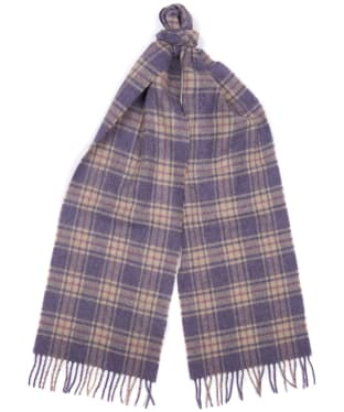 Women's Barbour Brent Scarf - Lilac / Oatmeal