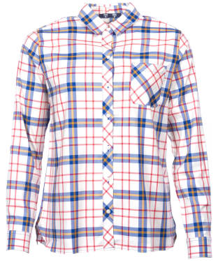 Women's Barbour Sandsend Shirt - Seablue / Yellow