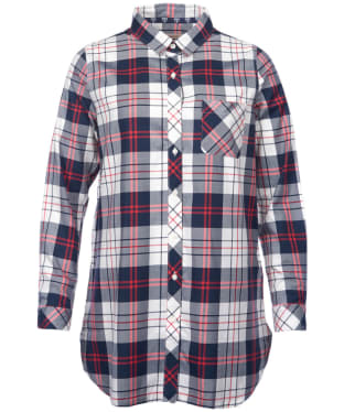 Women's Barbour Sandbank Check Shirt - Navy / White Check