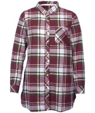 Women's Barbour Bressay Shirt - Aubergine / Kelp