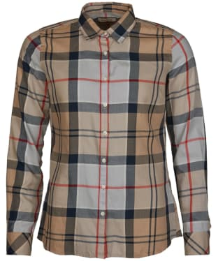 Women's Barbour Bredon Shirt - Caramel Tartan