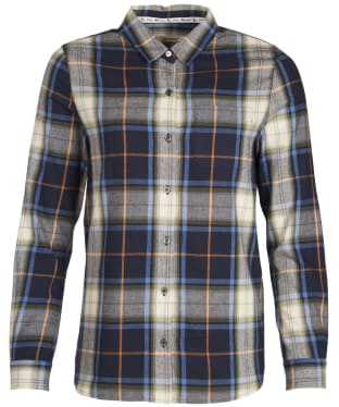 Women's Barbour Ullswater Shirt - Navy / Marmalade