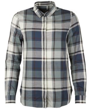 Women's Barbour Annis Check Shirt - Grey / Navy Check