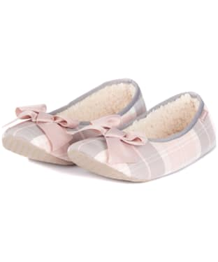 Women's Barbour Lily Slippers - Pink / Grey Tartan