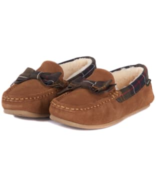 Women's Barbour Sadie Moccasin Slippers - Camel Suede