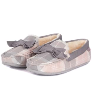 Women's Barbour Sadie Moccasin Slippers - Pink / Grey Tartan
