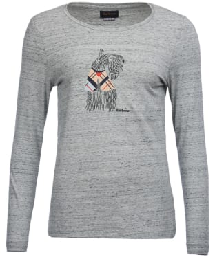 Women's Barbour Bettyhill Long Sleeved Tee - Grey Marl