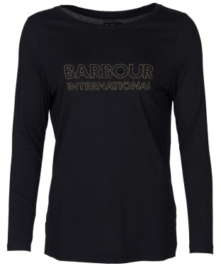 Women's Barbour International Valencia Tee - Black