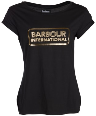 Women's Barbour International Aragan Tee - Black