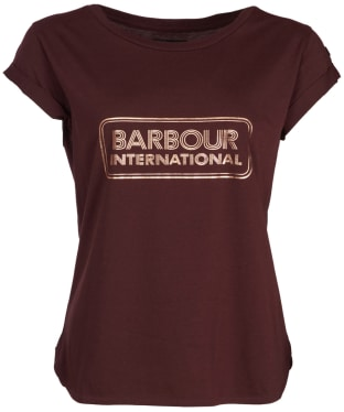 Women's Barbour International Aragan Tee - Cocoa