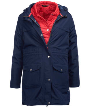 Women's Barbour Clovelly Waterproof Jacket - Navy