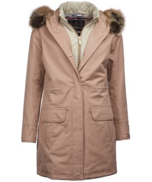 Women's Barbour Argyll Waterproof Jacket - Camel