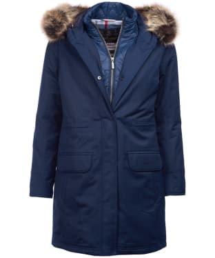 Women's Barbour Argyll Waterproof Jacket - Navy