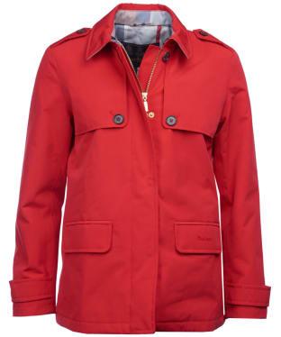 Women's Barbour Rothesay Waterproof Jacket - Tartan Red