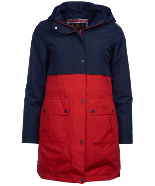 Women's Barbour Damini Waterproof Jacket - Tartan Red / Navy