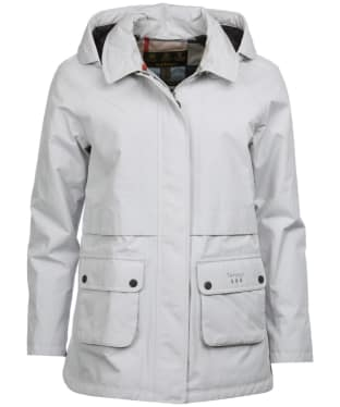 Women's Barbour Irisa Waterproof Jacket - Ice White