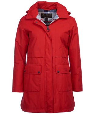 Women's Barbour Farron Waterproof Jacket - Tartan Red
