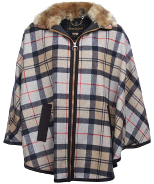 Women's Barbour Crieff Cape - Caramel Tartan