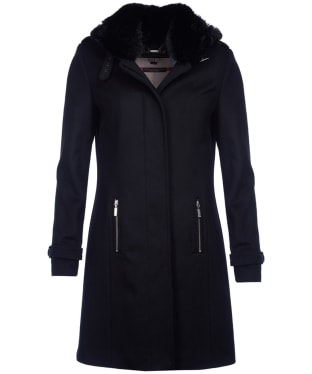 Women's Barbour Balmedie Wool Coat - Black