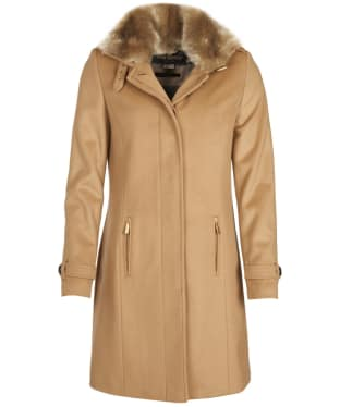 Women's Barbour Balmedie Wool Coat - Camel