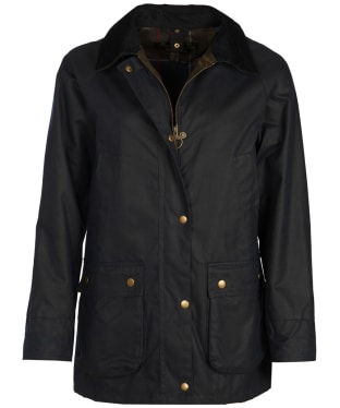 Women's Barbour Acorn Wax Jacket - Navy