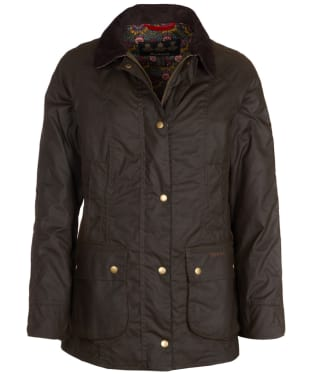 Women's Barbour Liberty Abbey Wax Jacket - Olive