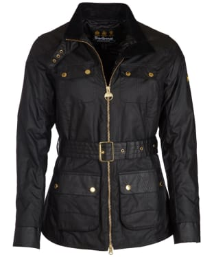 Women's Barbour International Hubcap Waxed Jacket