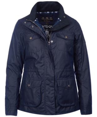 Women's Barbour Rhossili Waxed Jacket - Royal Navy