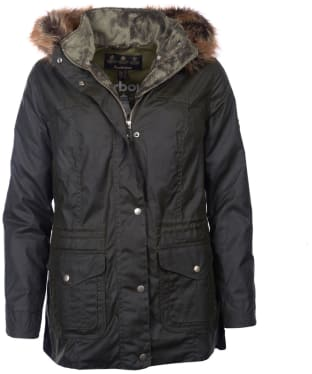 Women's Barbour Southwold Waxed Jacket - Fern