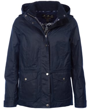 Women's Barbour Hunstanton Waxed Jacket - Navy