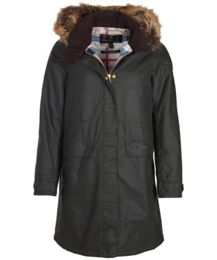 Women's Barbour Galloway Waxed Jacket - Sage