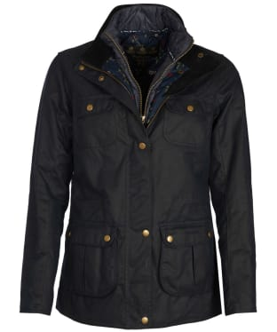 Women's Barbour Chaffinch Wax Jacket - Navy