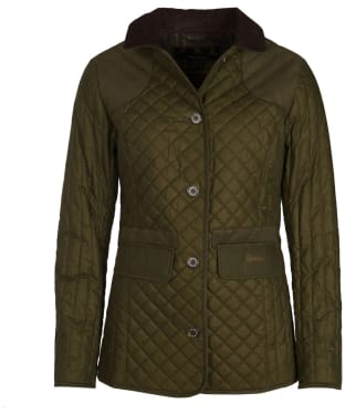 Women's Barbour Dunnock Quilted Wax Jacket - Archive Olive