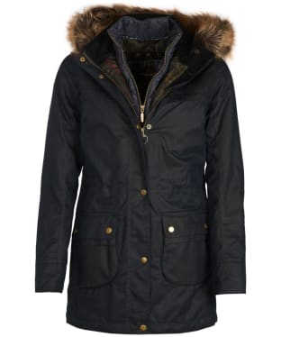 Women's Barbour Dartford Wax Jacket - Navy
