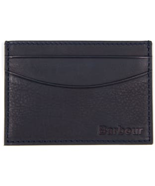 Men's Barbour Leather Cardholder - Navy