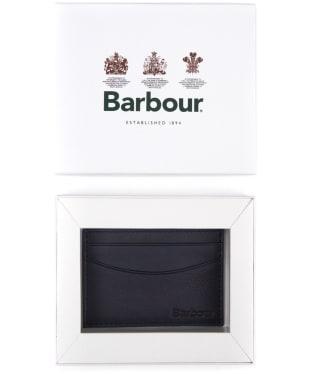 Men's Barbour Leather Cardholder - Navy