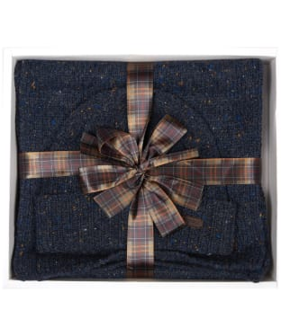 Men's Barbour Donegal Knitted Giftset - Navy
