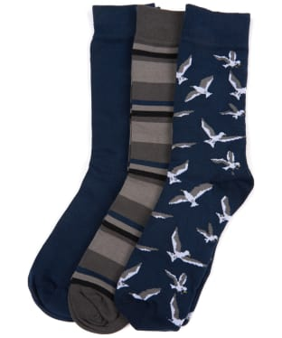 Men's Barbour Seagull Sock Giftbox - Navy