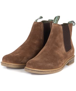 Men's Barbour Farsley Chelsea Boots - Tobacco Suede