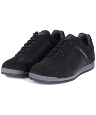 Men's Barbour International Cinder Trainers - Black Tonal