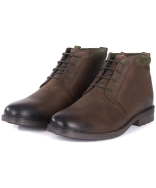 Men's Barbour Kielder Chukka Boots - Dark Brown