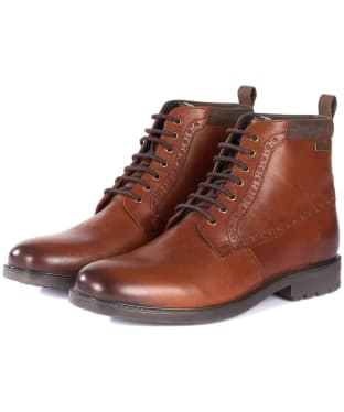 Men's Barbour Hury Derby Boots - Tan