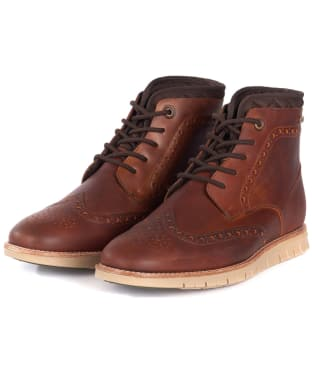 Men's Barbour Clement Derby Boots - Chestnut