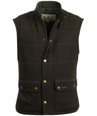 Men's Barbour Wool Lowerdale Gilet - Olive