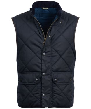 Men's Barbour Wax Lowerdale Gilet - Navy