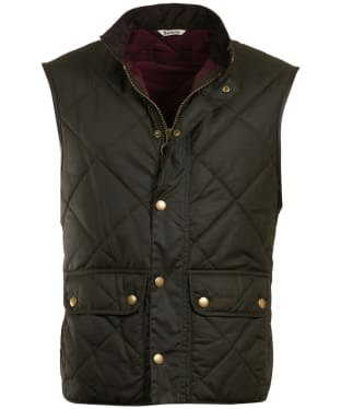 Men's Barbour Wax Lowerdale Gilet - Olive