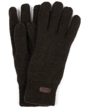 Men's Barbour Carlton Gloves - Dark Green