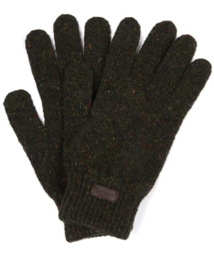Men's Barbour Donegal Gloves - Dark Green