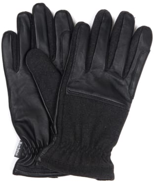 Men's Barbour Rugged Melton Wool Mix Gloves - Charcoal / Black